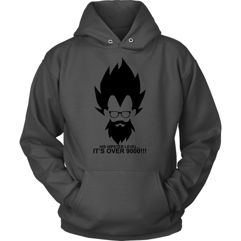 Super saiyan - His hipster lever is over 9000 - Unisex Hoodie T Shirt - TL01342HO