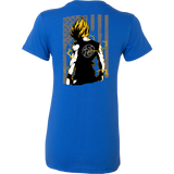 American Super Saiyan Goku Woman Short Sleeve T shirt - TL00046WS - The TShirt Collection