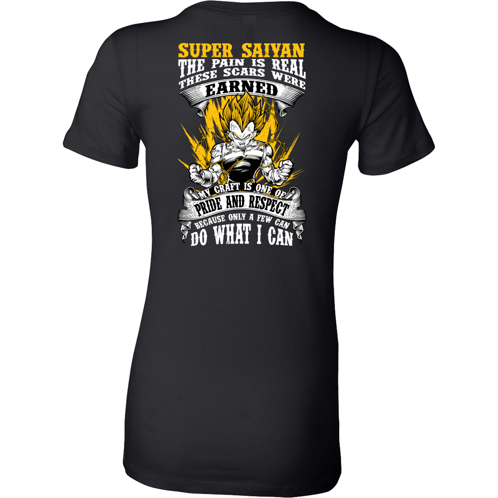 Super Saiyan Vegeta Warrior Woman Short Sleeve T Shirt - TL00120WS