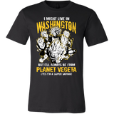 Super Saiyan I May Live in Washington Men Short Sleeve T Shirt - TL00070SS