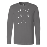 Best Dad Ever in contracted Braille Long Sleeve T Shirt - TL00684LS - The TShirt Collection