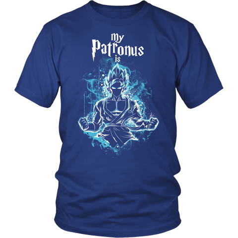 Super Saiyan - My Patronus is Goku God Blue - Men Short Sleeve T Shirt  - TL00898SS