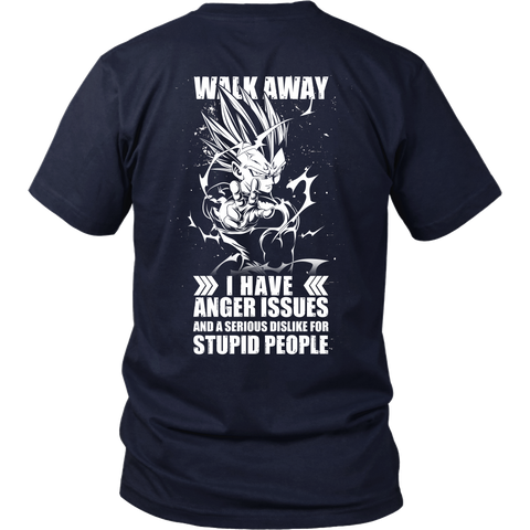 Super Saiyan - Walk away i have anger issues - Men Short Sleeve T Shirt - TL01306SS
