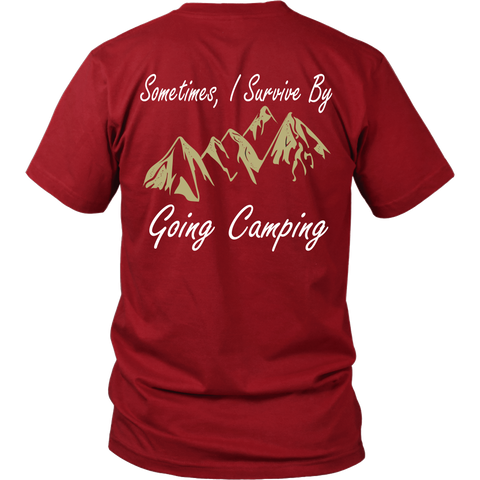 Camping - Sometimes i survice by going camping - Back - Men Short Sleeve T Shirt - TL01329SS