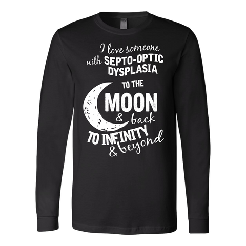 Funny T Shirt - I love someone to the moon and back  - Unisex Long Sleeve T Shirt - TL01350LS