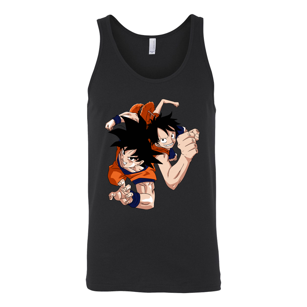 Super Saiyan Goku And Luffy Unisex Tank Top T Shirt - TL00538TT