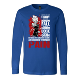 Super Saiyan Majin Vegeta Long Sleeve T shirt - LESSONS FROM PAIN - TL00059LS