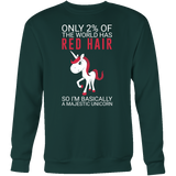 Hobbies - only 2% of the world has red hair - unisex sweatshirt t shirt - TL00834SW