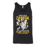Super Saiyan I May Live In Canada Unisex Tank Top T Shirt - TL00110TT