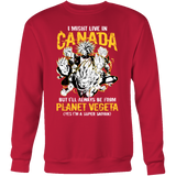 Super Saiyan I May Live In Canada Sweatshirt T shirt - TL00110SW