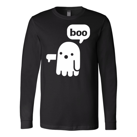 Halloween - Boo ghost dislike - Men Long Sleeve T Shirt - TL00700LS
