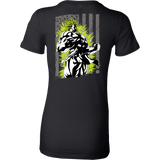 American Super Saiyan Broly Woman Short Sleeve T shirt - TL00001WS - The TShirt Collection