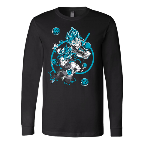Super Saiyan - SUPER SAIYAN BLUE - Unisex Long Sleeve T Shirt - TL01176LS