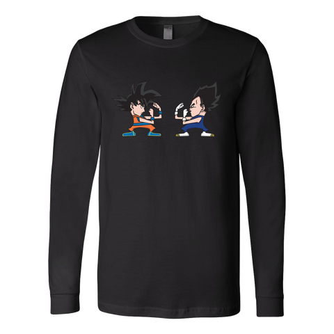 Super Saiyan - Saiyans Fight - Unisex Long Sleeve T Shirt - TL01341LS