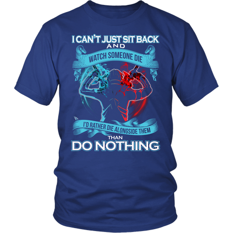 SAO Sword Art Online - I can't just sit back and wath some die - Men Short Sleeve T Shirt - TL01188SS - Front