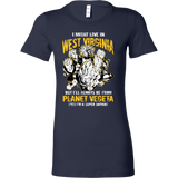 Super Saiyan I May Live in West Virginia Woman Short Sleeve T shirt - TL00097WS