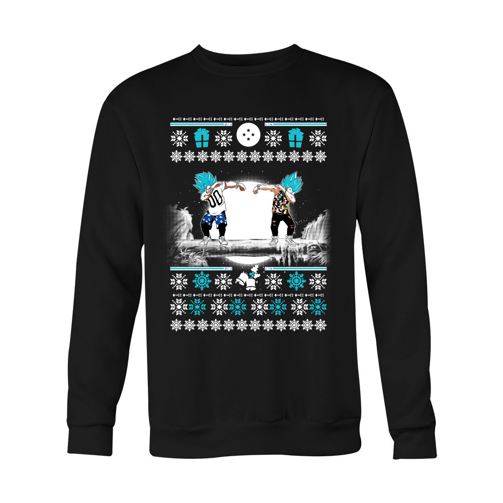 Super Saiyan - GOKU & VEGETA DAB UGLY CHRISTMAS SWEATER - Unisex ...