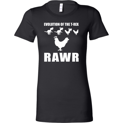 Dinosaur - Evolution Of The T-Rex Rawr - Woman Short Sleeve T Shirt - TL00858WS - The TShirt Collection