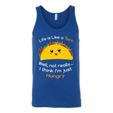Taco mexican life is like a taco well not really i think i'm just hungry Unisex Tank Top Funny T Shirt - TL00584TT