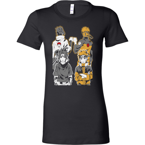 Naruto - Naruto and Sasuke Best Friend - Woman Short Sleeve T Shirt - TL01141WS