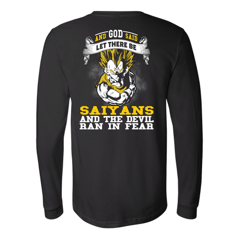 Super Saiyan - Saiyan and the devil ran in fear - Unisex Long Sleeve T Shirt - TL01184LS