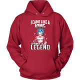 Super Saiyan - Vegeta God I Came Like A King Left Like A Legend - Unisex Hoodie T Shirt - TL01272HO