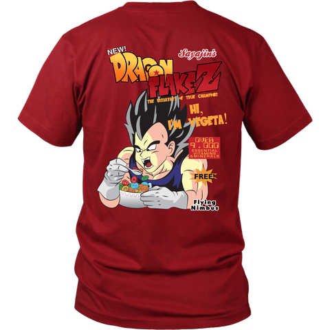 Super Saiyan - Super Saiyan Vegeta dragon flake z cereal - Back - Men Short Sleeve T Shirt - TL01312SS
