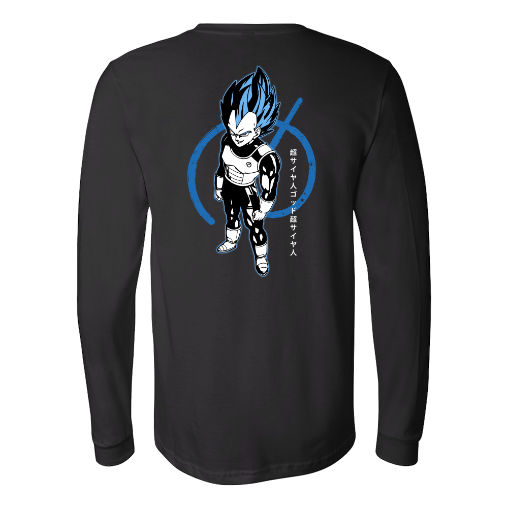 Super Saiyan Blue Vegeta God Long Sleeve T shirt - TL00016LS