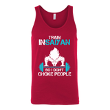 Super Saiyan Goku Choke Training Gym Unisex Tank Top T Shirt - TL00551TT