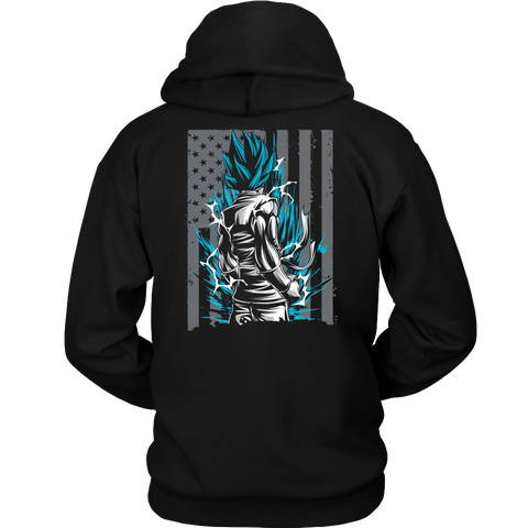American Super Saiyan God Blue Goku Unisex Hoodie T shirt - TL00002HO - The TShirt Collection