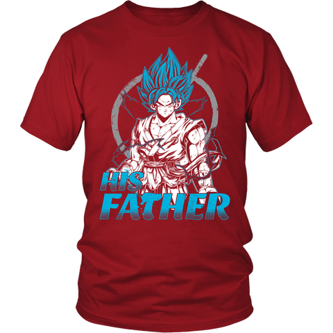 Super Saiyan Goku God Dad Men Short Sleeve T Shirt - TL00486SS