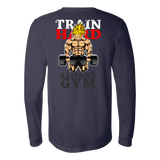 Super Saiyan Goku Gym Train Hard Long Sleeve T shirt - TL00441LS