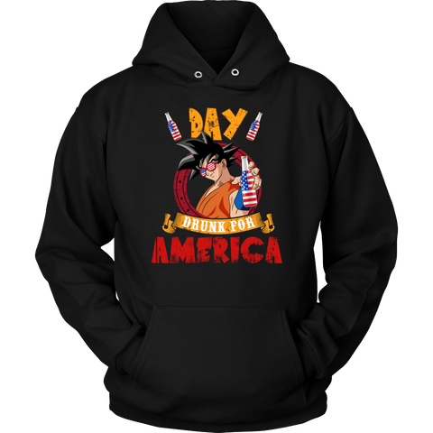 Super Saiyan - Day Drunk For American - Unisex Hoodie - TL01372HO