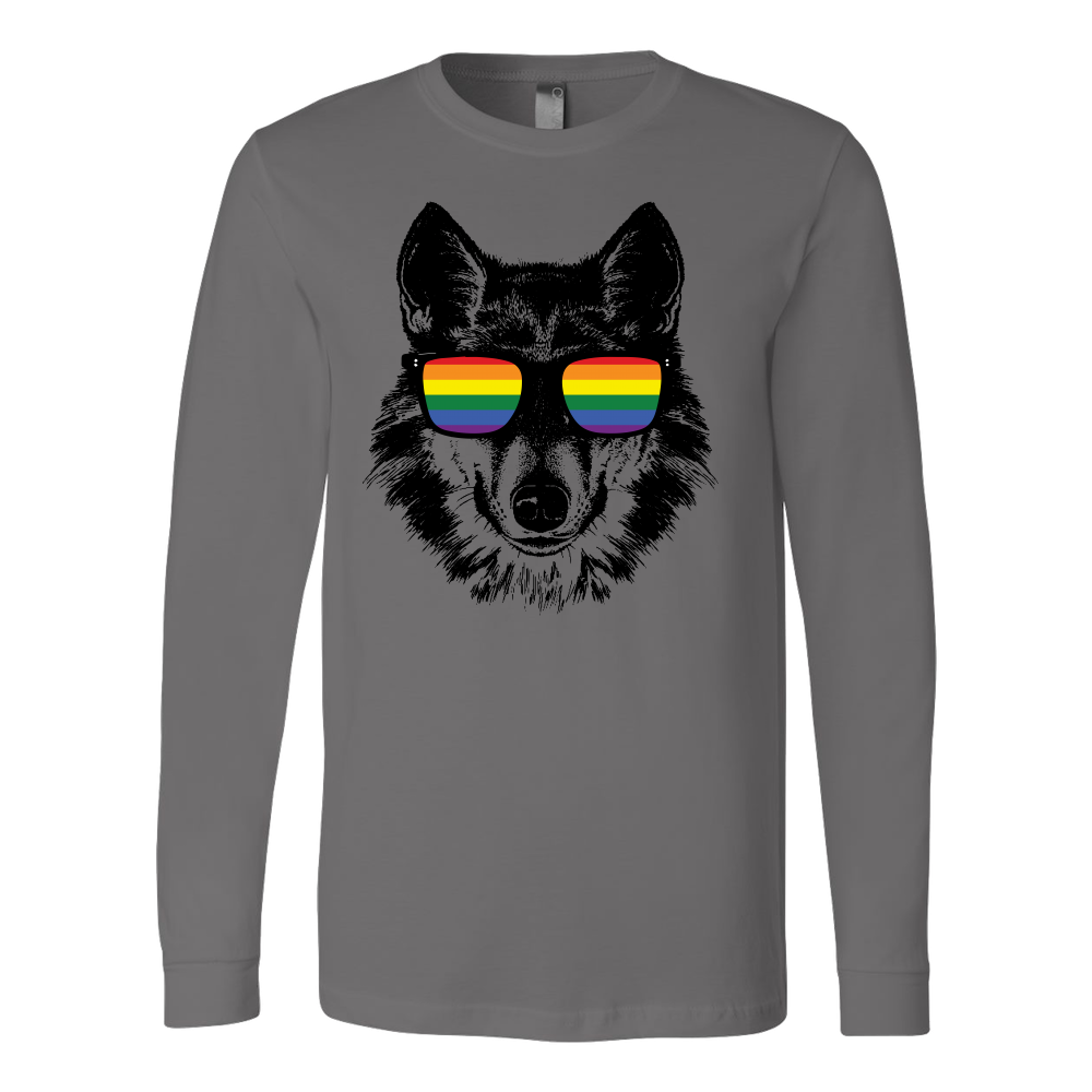 LGBT - Wolf Pride Sunglasses - Long Sleeve T shirt - TL00811LS