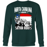 Super Saiyan North Carolina Grown Saiyan Roots Sweatshirt T shirt - TL00149SW