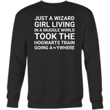 Harry Potter - just a wizard girl living in a muggle world - unisex sweatshirt t shirt - TL00961SW
