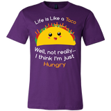 Taco mexican life is like a taco well not really i think i'm just hungry Men Short Sleeve Funny T Shirt - TL00584SS