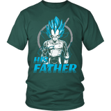 Super Saiyan Vegeta God Dad Men Short Sleeve T Shirt - TL00488SS