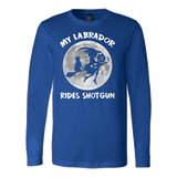 Halloween - My labrador rides shotgun - Men Long Sleeve T Shirt - TL00728LS