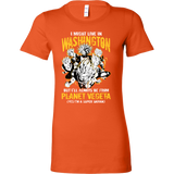 Super Saiyan I May Live in Washington Woman Short Sleeve T shirt - TL00070WS