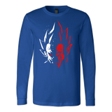 Super Saiyan Vegeta half face long sleeve shirt - TL00231LS