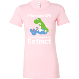 Dinosaur - T-Rex hate CPR, This is Why Dinosaurs Are Extinct - Woman Short Sleeve T Shirt - TL00862WS - The TShirt Collection