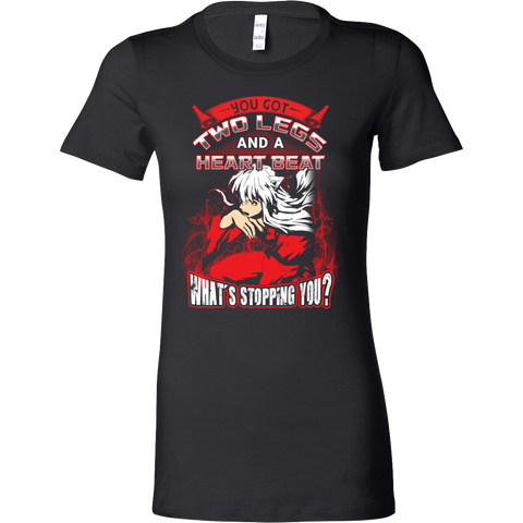 Inuyasha - What stopping you - Woman Short Sleeve T Shirt - TL01095WS