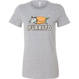 Taco mexican purrito Woman Short Sleeve Funny T Shirt - TL00602WS