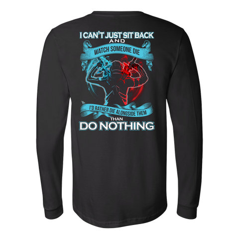 SAO Sword Art Online - I can't just sit back and wath some die - Unisex Long Sleeve T Shirt - TL01188LS