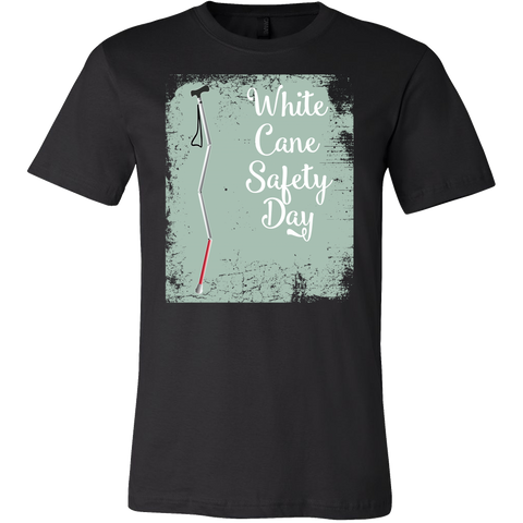 White Cane Safety Day Men Short Sleeve T Shirt - TL00696SS