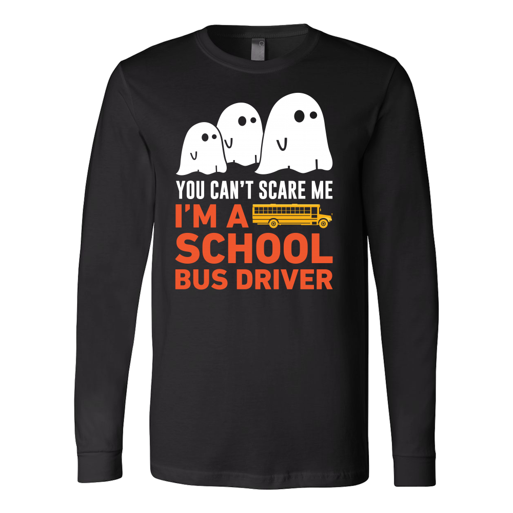 Halloween - You can't scare me i'm a school bus driver - Men Long Sleeve T Shirt - TL00722LS