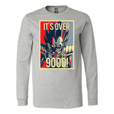 Super Saiyan Vegeta Over 9000 Long Sleeve T shirt -- TL00129LS