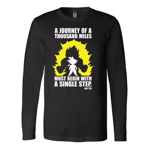 Super Saiyan - A Journey of A Thousand Miles - Unisex Long Sleeve T Shirt - TL01185LS