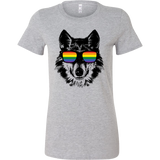 LGBT - Wolf Pride Sunglasses - Woman Short Sleeve T shirt - TL00811WS
